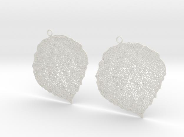 Leaf earrings in White Strong & Flexible