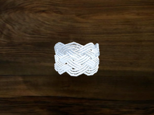 Turk's Head Knot Ring 6 Part X 8 Bight - Size 4.75 3d printed