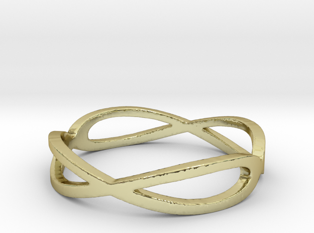 Aeon Double Infinity Ring Size 10.75 3d printed
