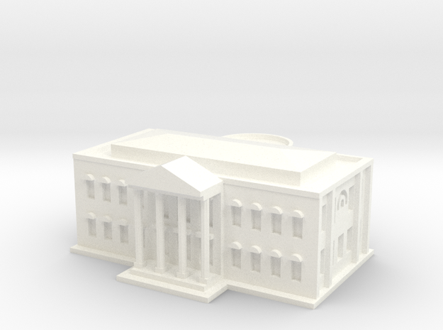 White House (1/1000 Scale Model) in White Strong & Flexible Polished