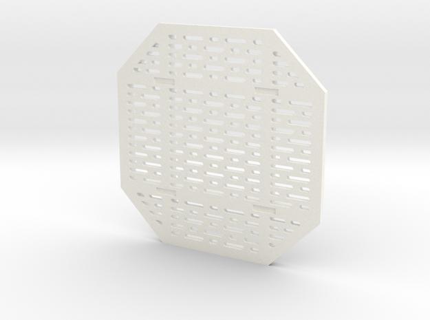 DeAgo Falcon Main Hold Floor Pit Single Cover  in White Processed Versatile Plastic