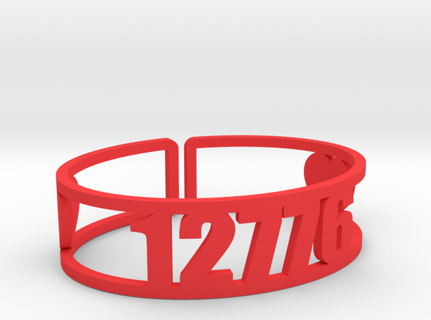 Timber Lake West Zip Cuff in Red Processed Versatile Plastic