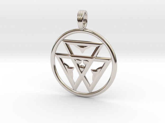TRINITY LIFE-FORCE in Rhodium Plated