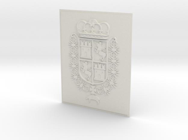 Spain COA 8x10_Castillo de San Marcos_St. Aug. FL. in White Natural Versatile Plastic