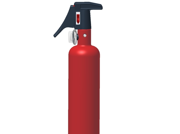 1:6 Scale approx.-Fire Extinguisher Assy - Dissemb 3d printed