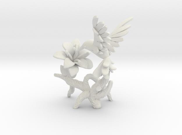 Hummingbird in White Strong & Flexible