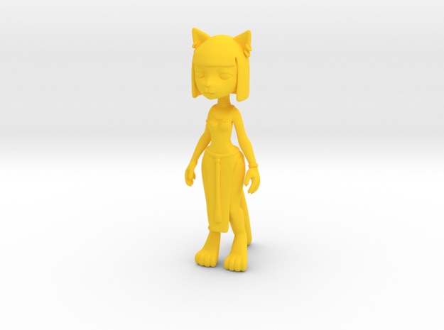 Egypt Kitty Figure in Yellow Strong & Flexible Polished