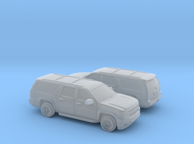 1/160 2X 2007-14 Chevrolet Suburban in Smooth Fine Detail Plastic