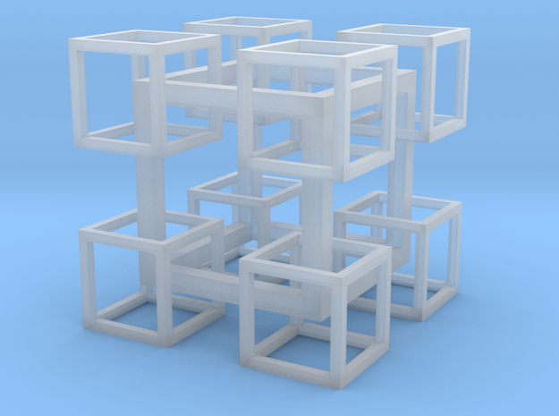 8 Cubes In 1 Cube in Frosted Ultra Detail