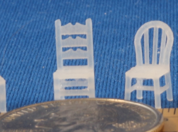 Assorted Chairs HO Scale in Smooth Fine Detail Plastic