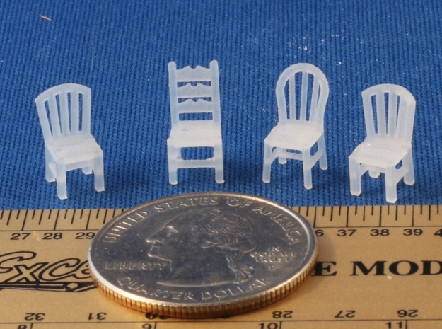 Assorted Chairs HO Scale 3d printed