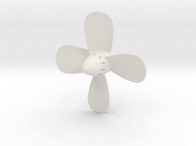 Titanic Propeller - 4-Bladed Scale 1:100 in White Natural Versatile Plastic