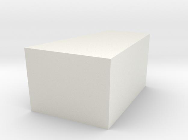 Geo Part 1 - 3D Print - REV1 - 02-23 in White Natural Versatile Plastic