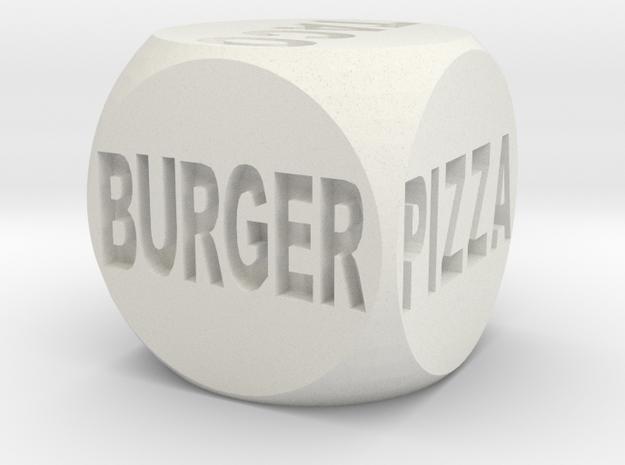 Fast Food Decision Die in White Natural Versatile Plastic