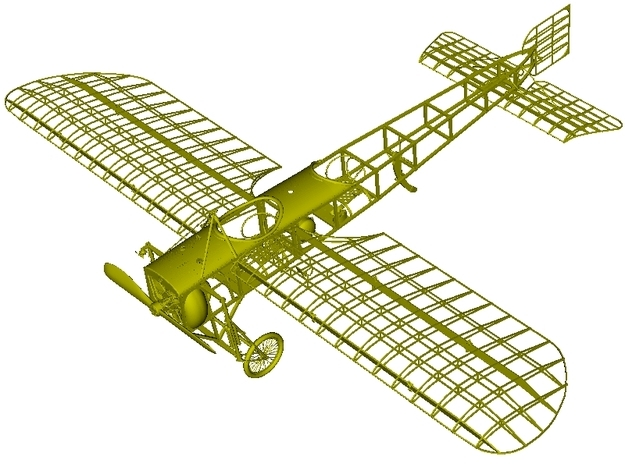 1/15 scale Bleriot XI-2 WWI model kit #2 of 4 in Smooth Fine Detail Plastic