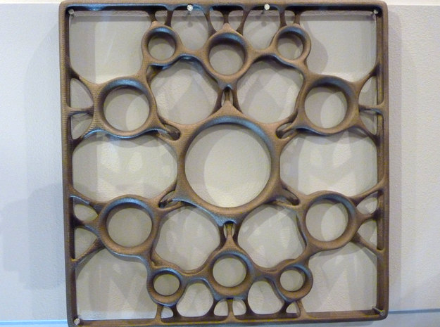 Steel Tile (30x30cm) in Polished and Bronzed Black Steel