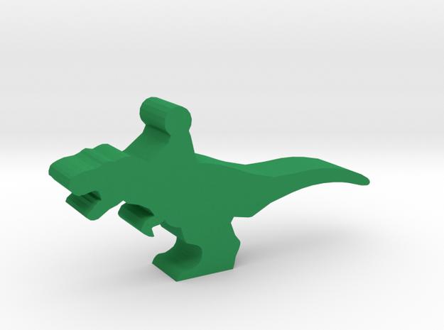 Game Piece, T-Rex Dino Rider in Green Processed Versatile Plastic