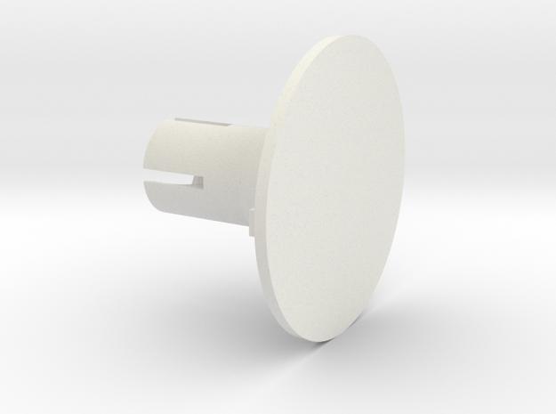 Round Base in White Natural Versatile Plastic