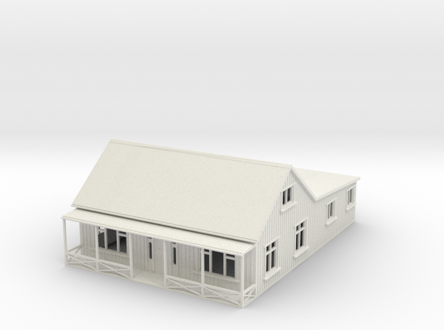 Nscale cottage with veranda in White Natural Versatile Plastic