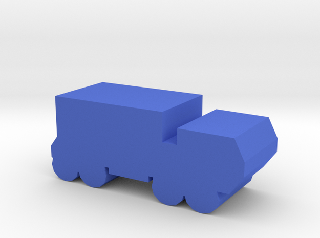 Game Piece, Blue Force Heavy Truck in Blue Processed Versatile Plastic