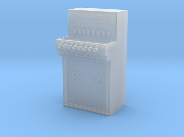 Stellpult E43 8 Hebel Spur 1/Control panel 3d printed Frosted Detail