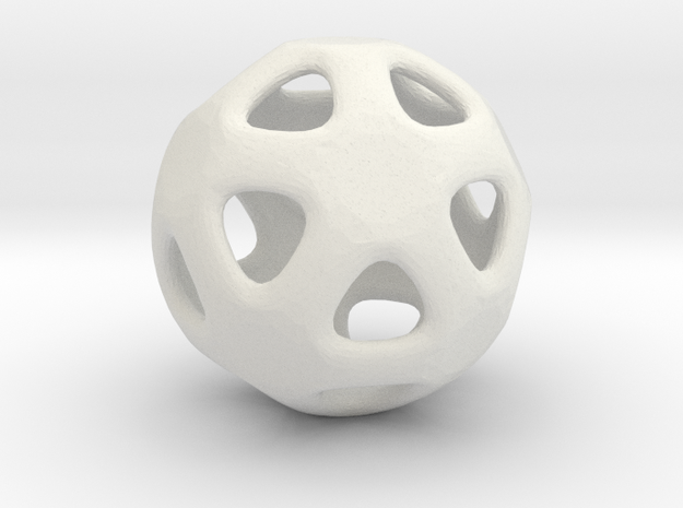 Conway Polyhedron {lseehI} in White Strong & Flexible