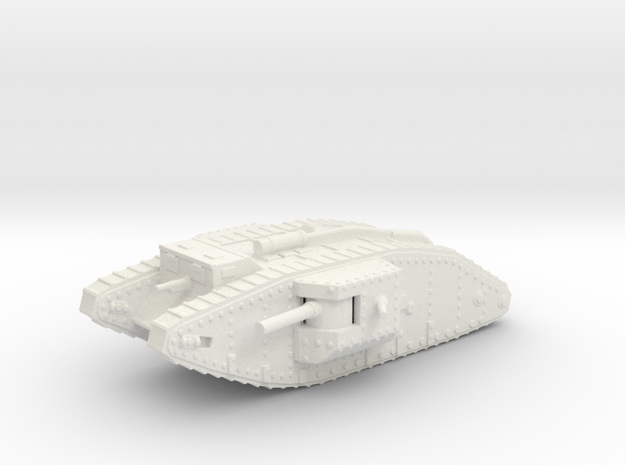 1/144 Mk.IV Male tank in White Strong & Flexible