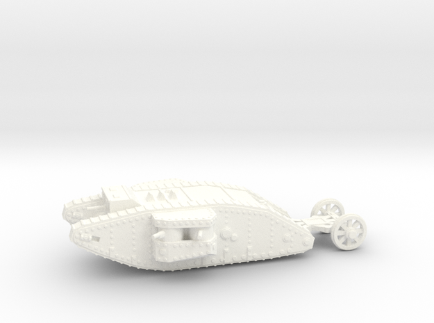 1/100 Mk.I Female tank in White Processed Versatile Plastic