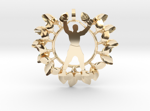 ALI in flowers- Pendant in 14k Gold Plated Brass