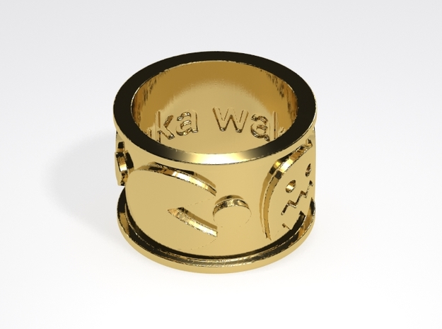 Pac-man inspired Ring Size 7 in Raw Brass