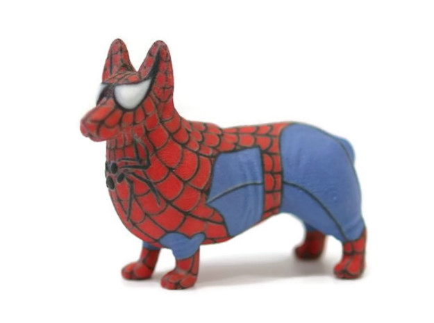 Spider Corgi in Full Color Sandstone