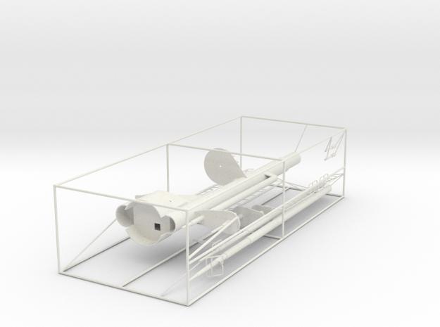 Graf Zeppelin 1:100 Masten Für Insel in White Natural Versatile Plastic