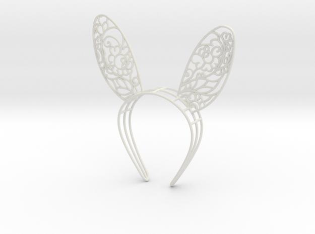 Gzhel Bunny Ears  in White Natural Versatile Plastic