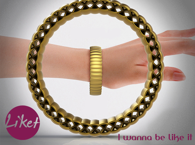 Armadillo Bracelet in Matte Gold Steel