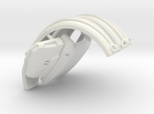 1:6 scale suspenders chest armor Revised in White Natural Versatile Plastic