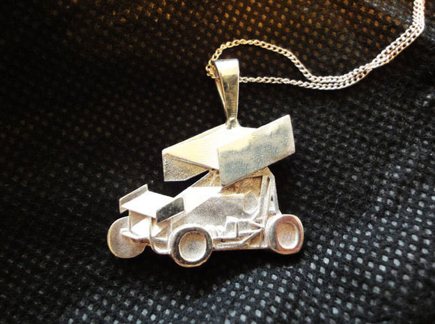 Sprint Car Pendant 3d printed