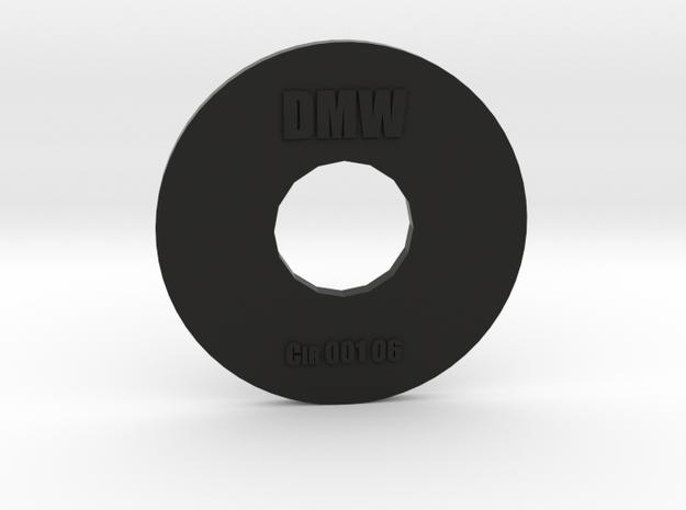 Clay Extruder Die: Circle 001 06 in Black Natural Versatile Plastic