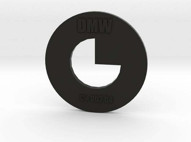 Clay Extruder Die: Circle 002 04 in Black Natural Versatile Plastic