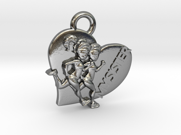 I Heart Sister / Run pendant or charm