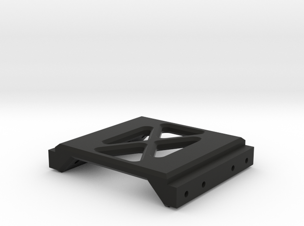 Axial SCX10 Rear Chassis Brace in Black Natural Versatile Plastic