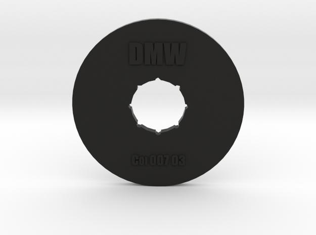 Clay Extruder Die: Coil 007 04 in Black Natural Versatile Plastic