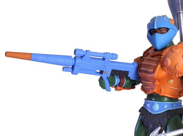Galactic Protector Army Rifle in White Processed Versatile Plastic