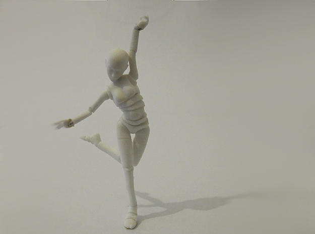 1/16 FEMALE ball jointed doll kit in White Strong & Flexible