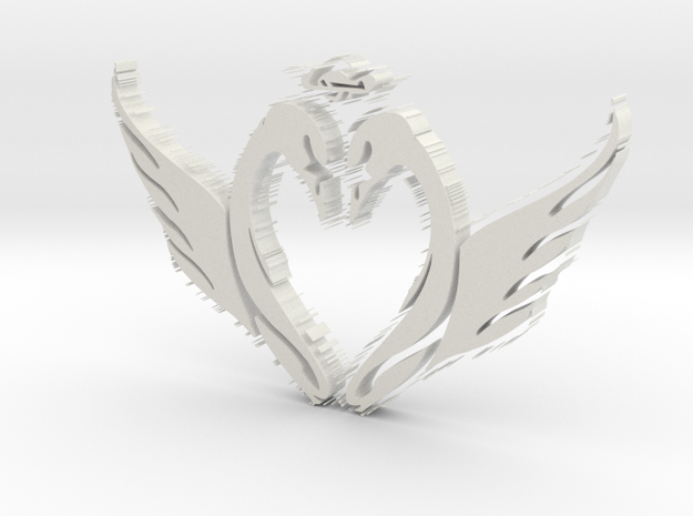Crested Swans 3d printed