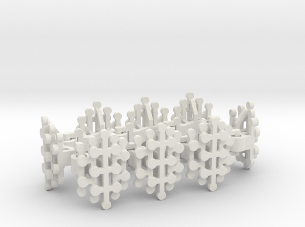 Geo Stamens bracelet in White Natural Versatile Plastic