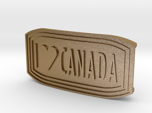 I LOVE CANADA - UMBUCKLE in Polished Gold Steel