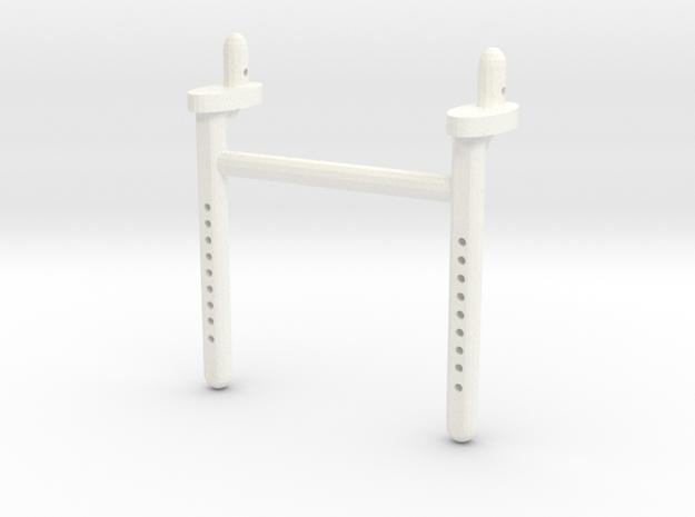 Dual Scx10 Long Rear Body Shaft in White Processed Versatile Plastic