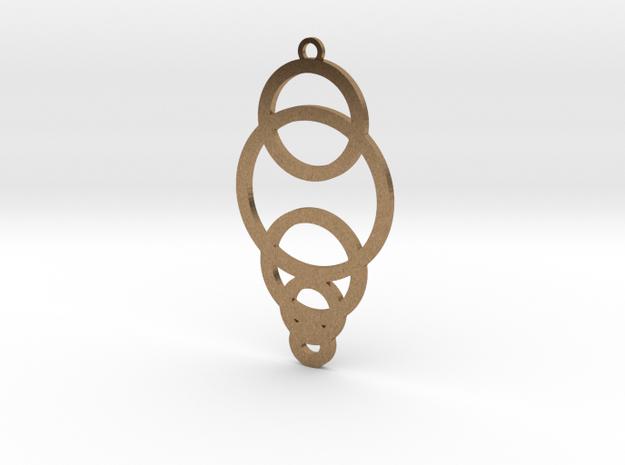 Decending Circles in Natural Brass