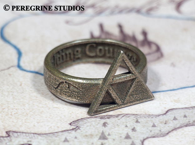 Ring - Triforce of Courage in Stainless Steel: 13 / 69
