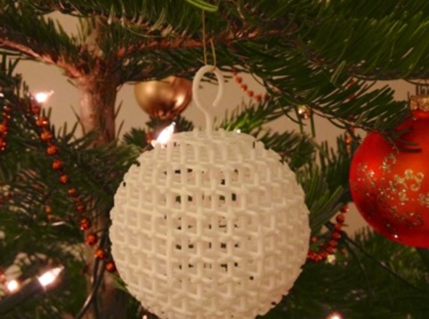 Starry Christmas Ball D77 3d printed